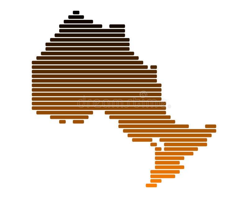 карта ontario бесплатная иллюстрация