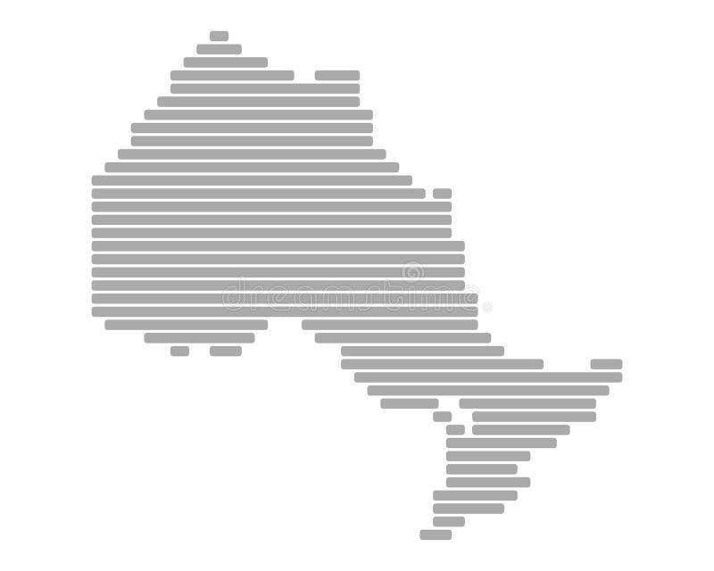 карта ontario иллюстрация вектора
