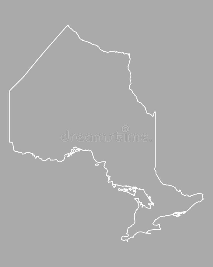 карта ontario иллюстрация штока