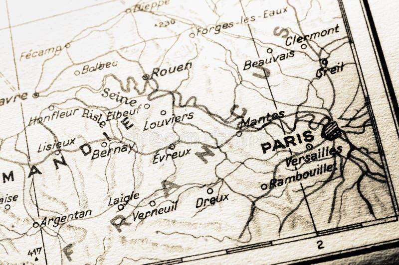 карта paris Франции стоковое изображение rf