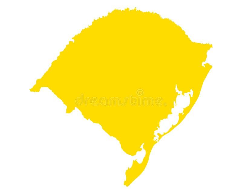 Карта Rio Grande do Sul иллюстрация вектора