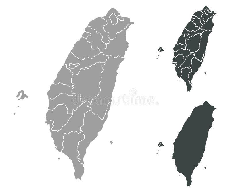 карта taiwan иллюстрация вектора