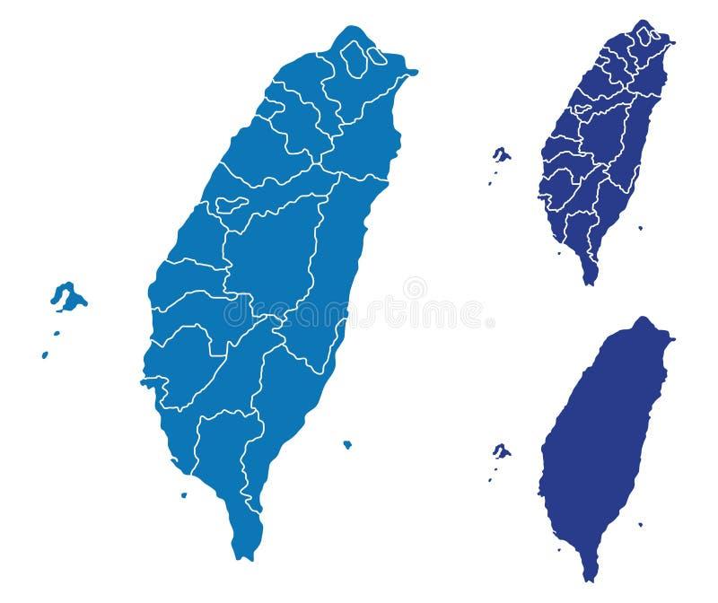 карта taiwan иллюстрация штока
