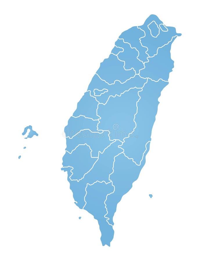 карта taiwan бесплатная иллюстрация