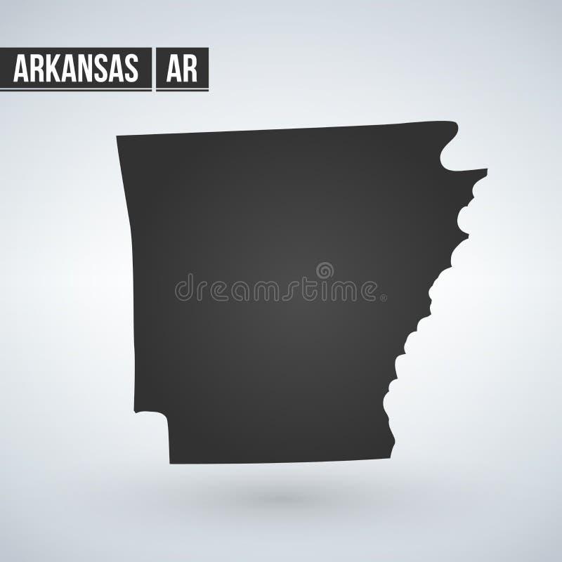 Карта u S положение Арканзаса на белой предпосылке иллюстрация штока