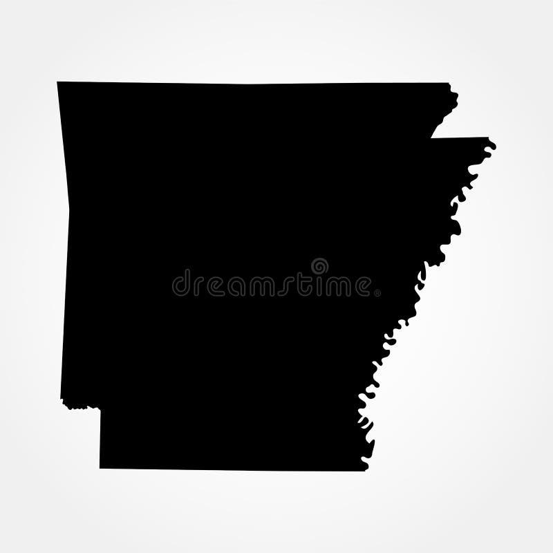 Карта u S положение Арканзаса бесплатная иллюстрация