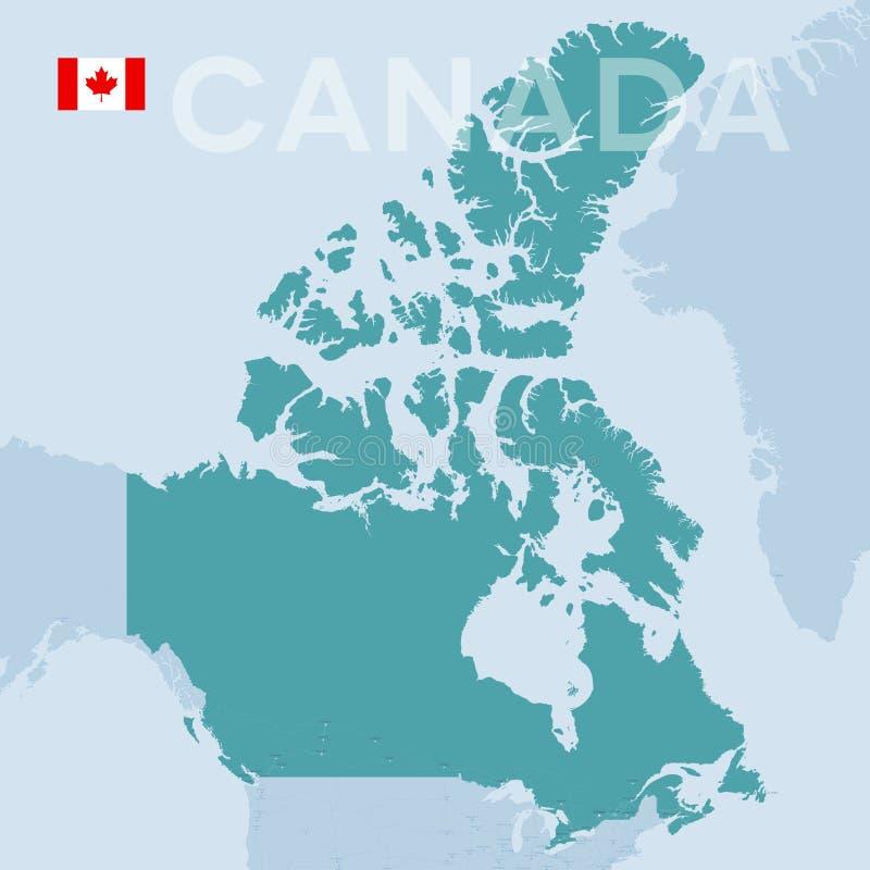 Карта Verctor городов и дорог в Канаде иллюстрация штока