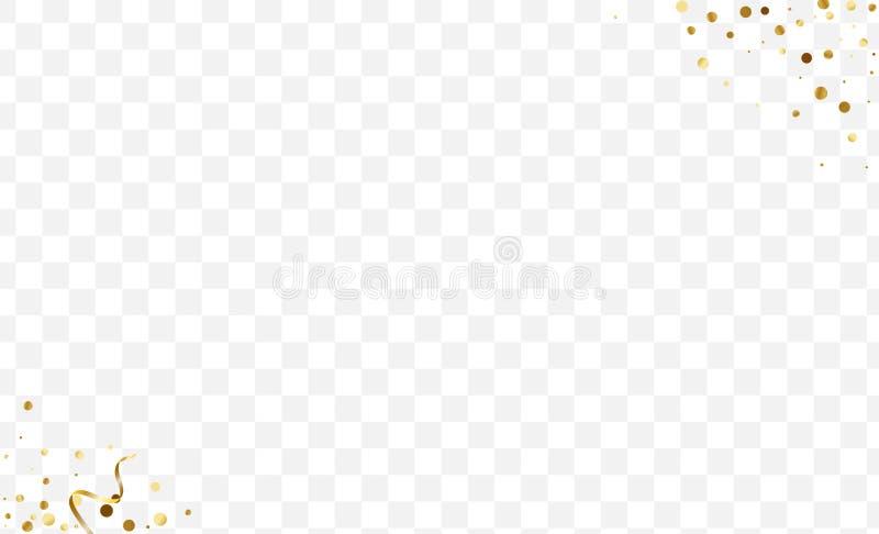 Карта Yellow Luxury Confetti Шиновый круг иллюстрация штока