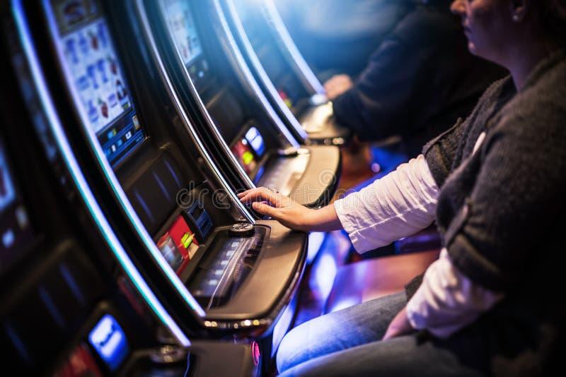 Картежники слота казино стоковые изображения