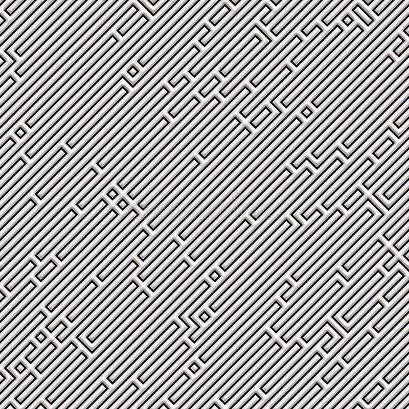 картина лабиринта безшовная иллюстрация вектора