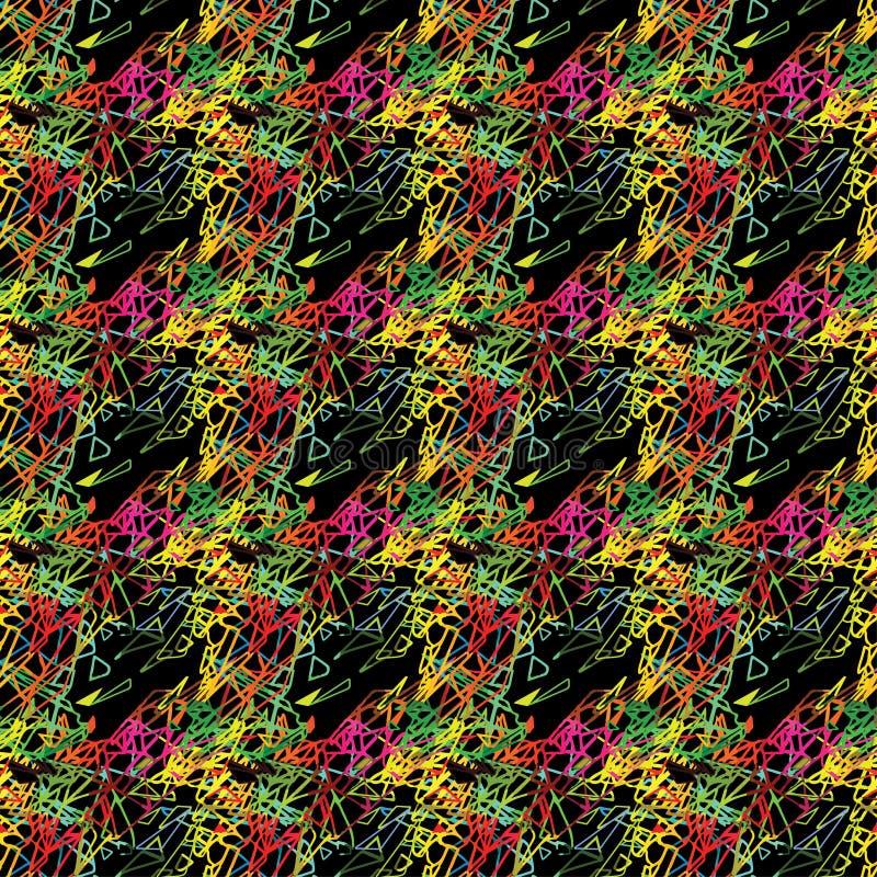 Картина абстрактного безшовного grunge городская с стрелкой, линиями, граффити, формой текстурировала элементы, чернила предпосыл бесплатная иллюстрация