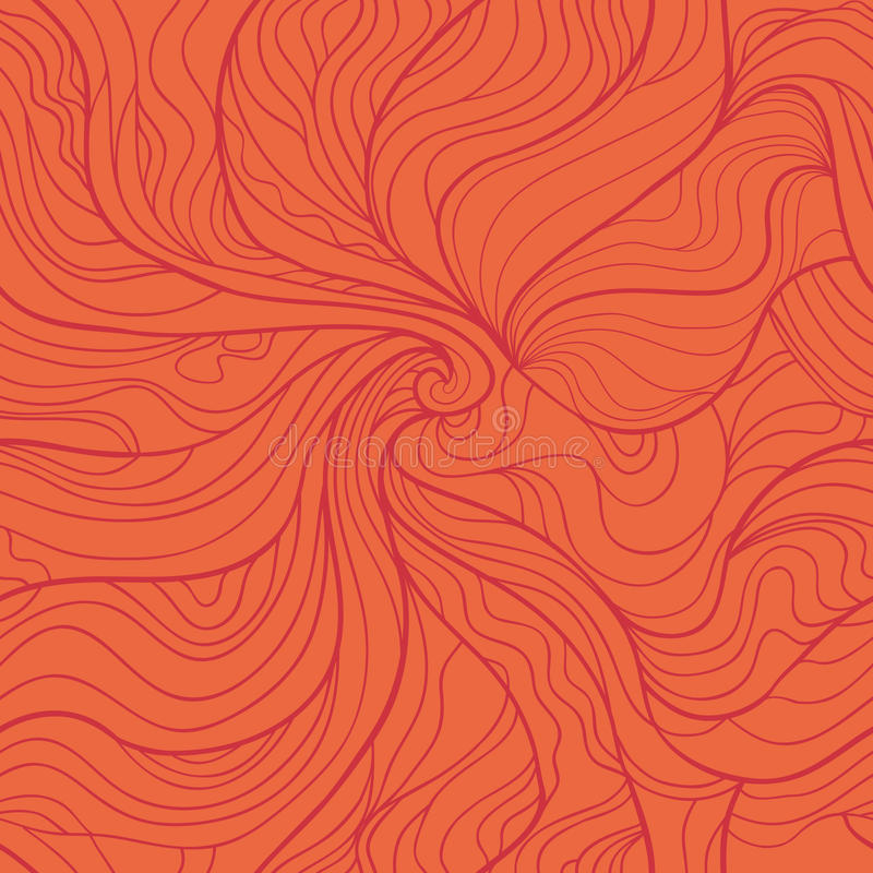 Картина абстрактного вектора водоворота безшовная в красном цвете бесплатная иллюстрация
