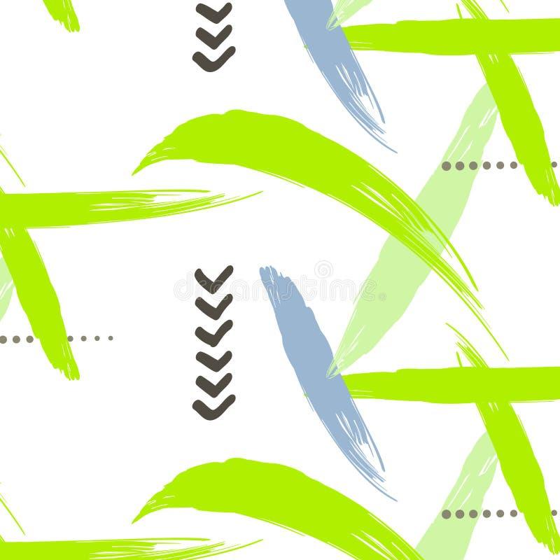 Картина абстрактного вектора геометрическая в ретро стиле 80s Дизайн битника современный иллюстрация штока