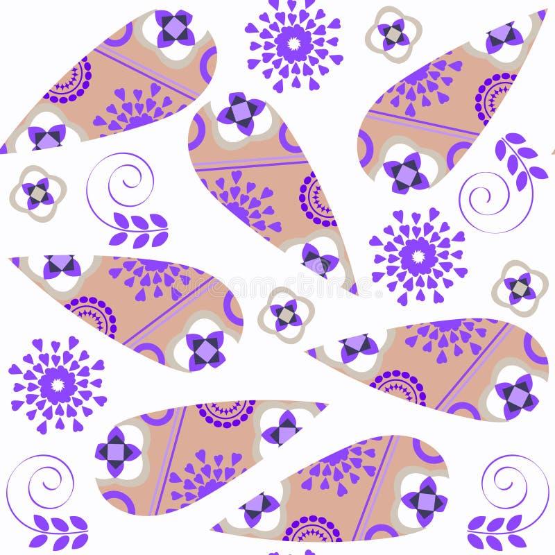 Картина абстрактного вектора Пейсли вектора красочного безшовная Оно lcoated в меню образца Яркая предпосылка для поверхностного  иллюстрация штока