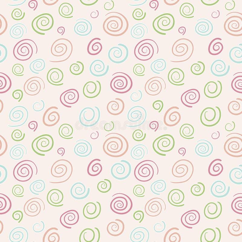 Картина абстрактного вектора ретро - свирли цвета бесплатная иллюстрация