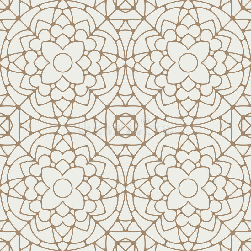 Картина абстрактного вектора шнурка безшовная геометрическая в славном свете ye иллюстрация вектора