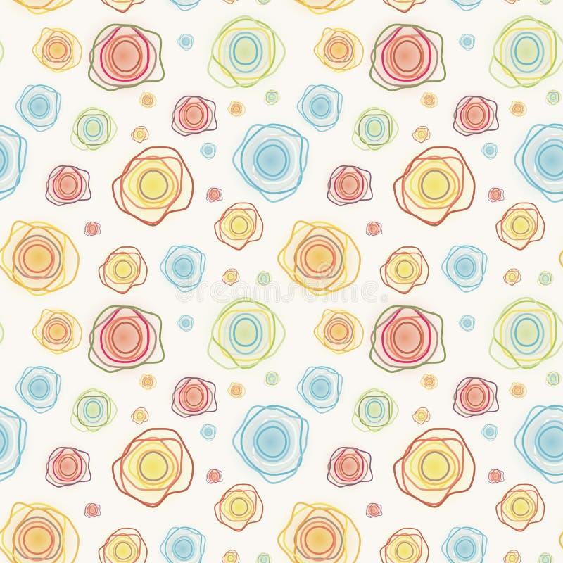 Картина абстрактного винтажного вектора безшовная - покрасьте c иллюстрация вектора