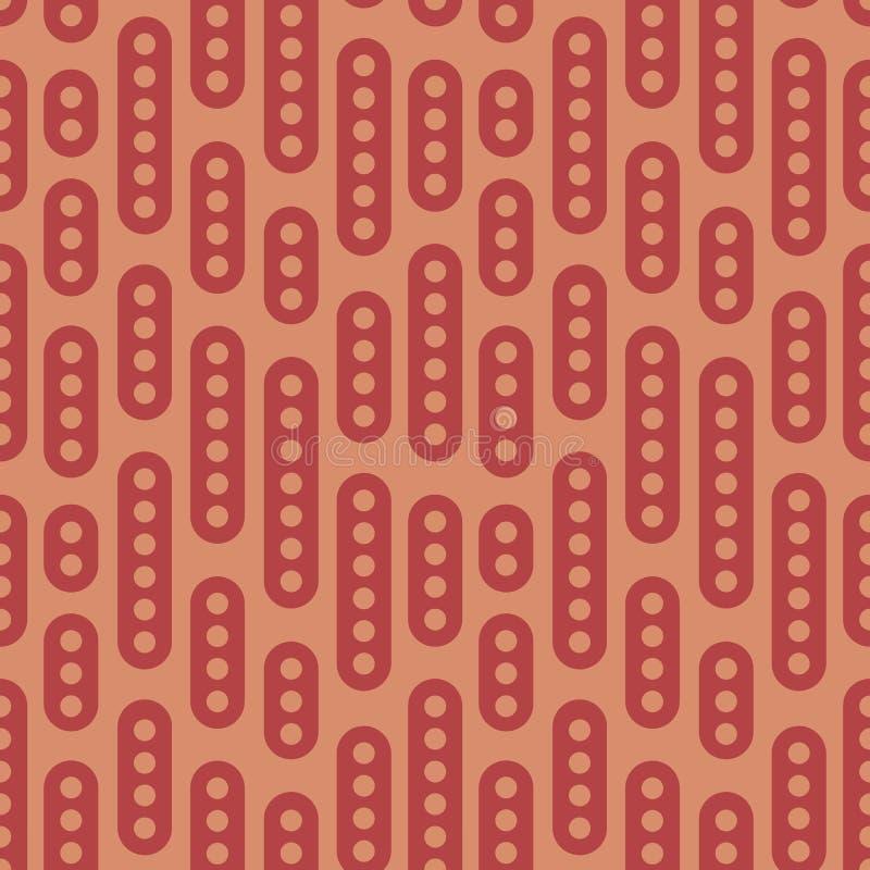 Картина абстрактного геометрического вектора безшовная Простой плоский орнамент на коричневой предпосылке Смогите быть напечатано иллюстрация вектора