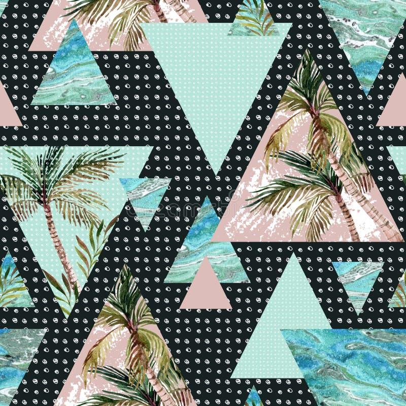 Картина абстрактного лета геометрическая безшовная бесплатная иллюстрация
