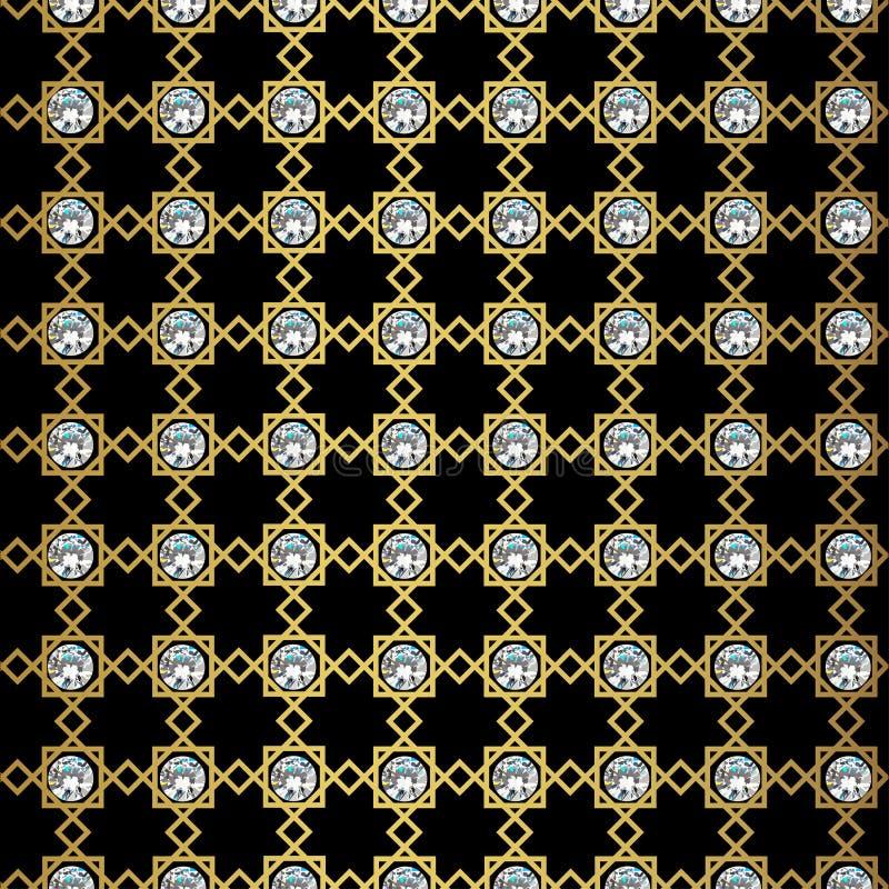 Картина абстрактного золота геометрическая Винтажная текстура стиля иллюстрация вектора