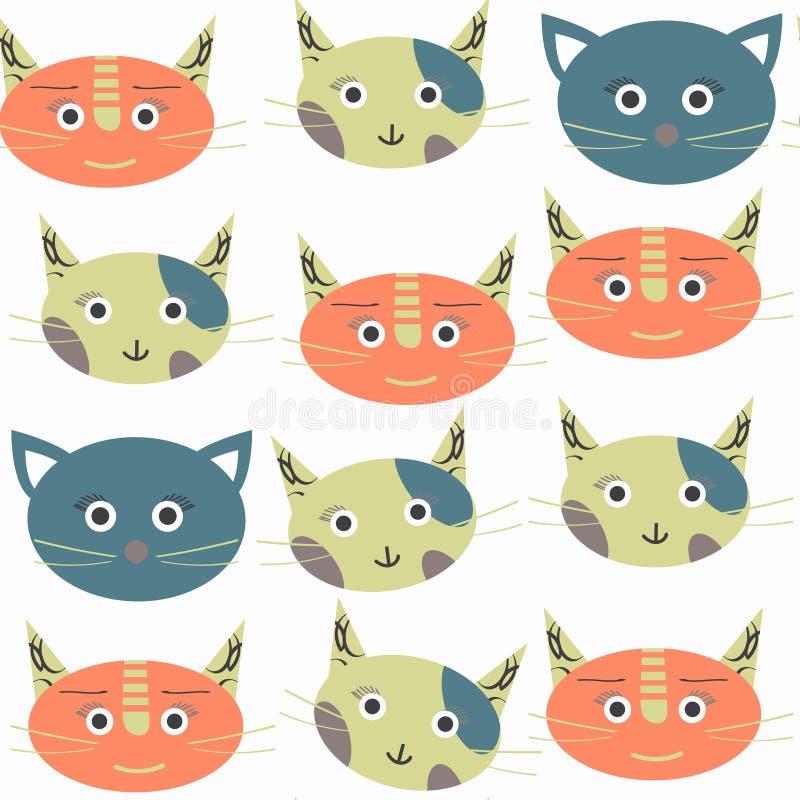 Картина абстрактного кота безшовная Оно расположено в меню образца, vec бесплатная иллюстрация