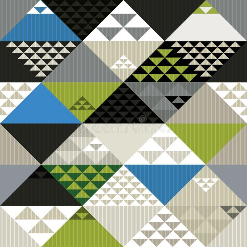 Картина абстрактного ретро стиля геометрическая безшовная, backgrou вектора иллюстрация штока