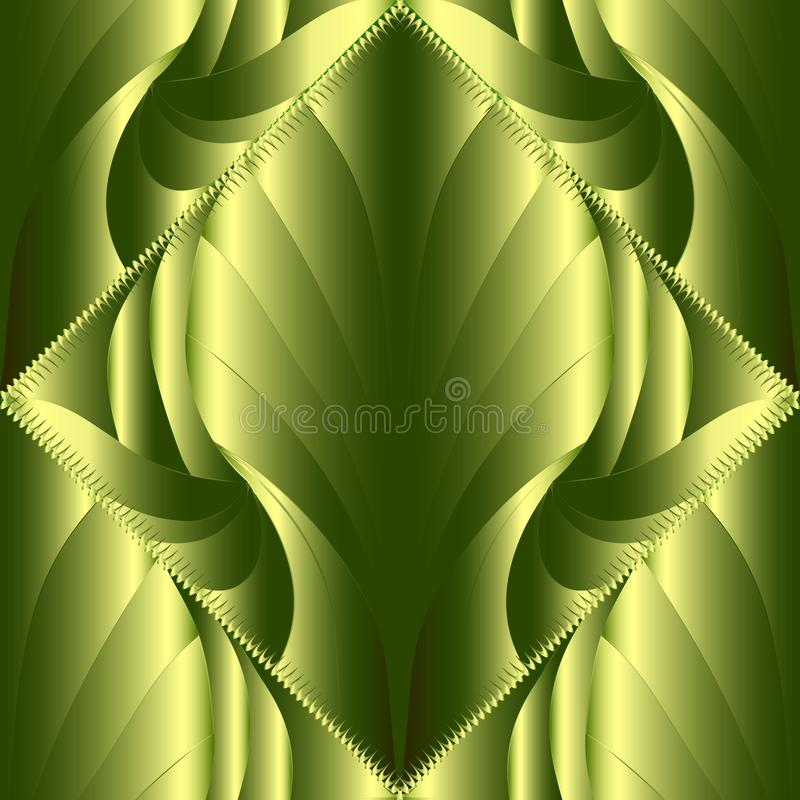 картина абстрактного современного вектора 3d безшовная Orna сделанное по образцу зеленым цветом бесплатная иллюстрация