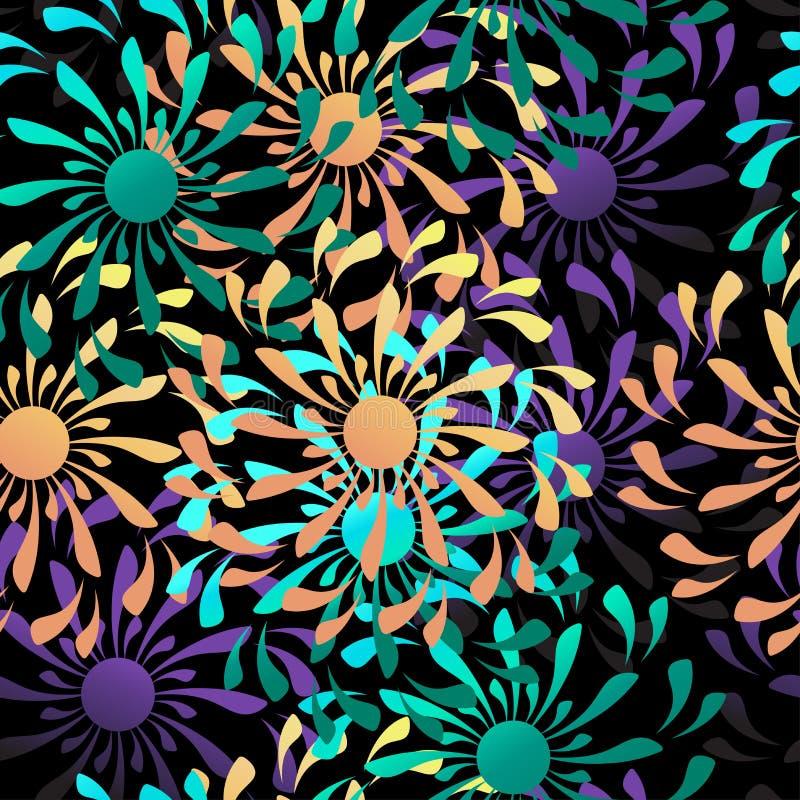 Картина абстрактного цветка вектора безшовная иллюстрация вектора