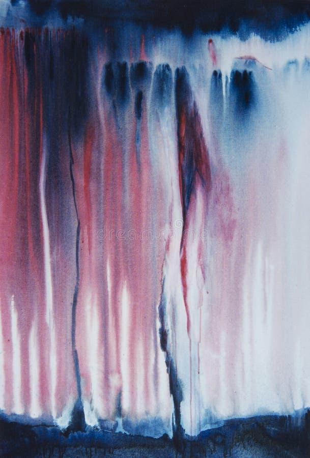 Картина абстрактного экспрессиониста акриловая на холсте стоковая фотография rf