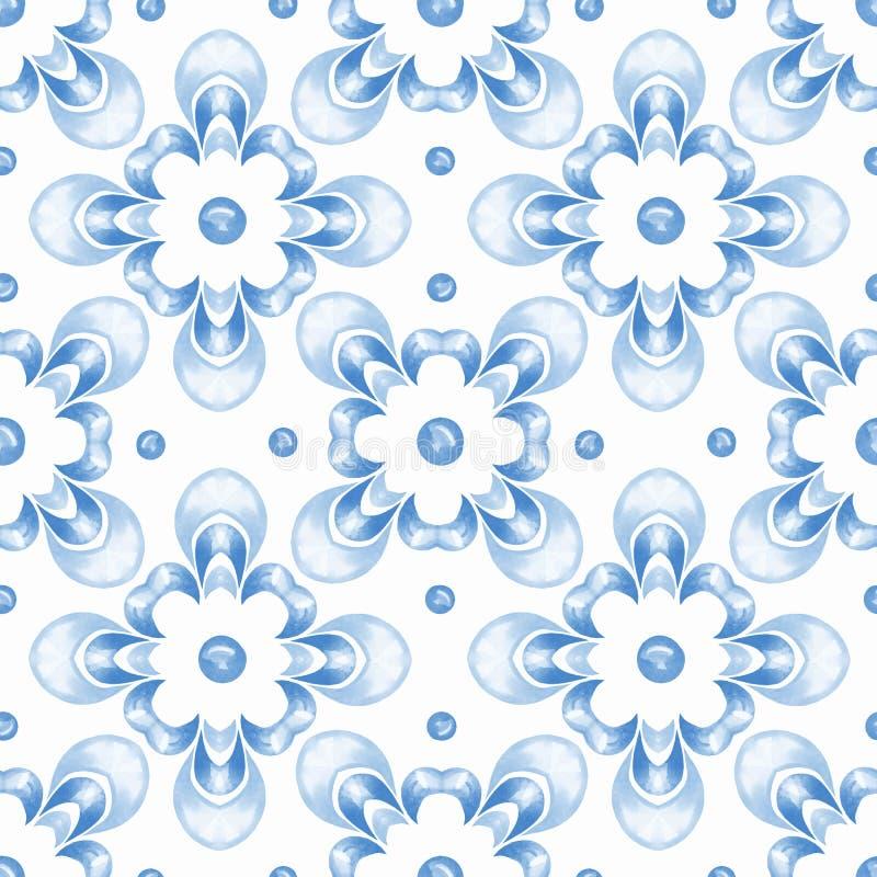 Картина 3 абстрактной орнаментальной акварели безшовная иллюстрация вектора