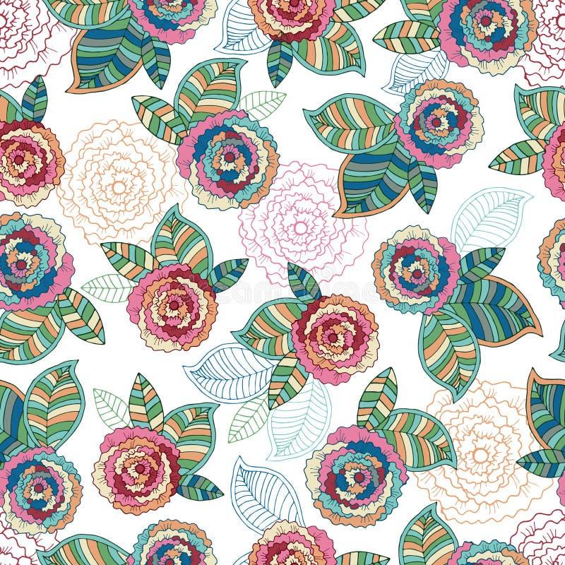 Картина абстрактной элегантности безшовная с флористическим иллюстрация штока