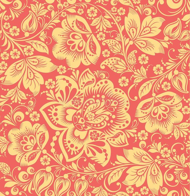 Картина абстрактной элегантности безшовная с флористической предпосылкой иллюстрация штока