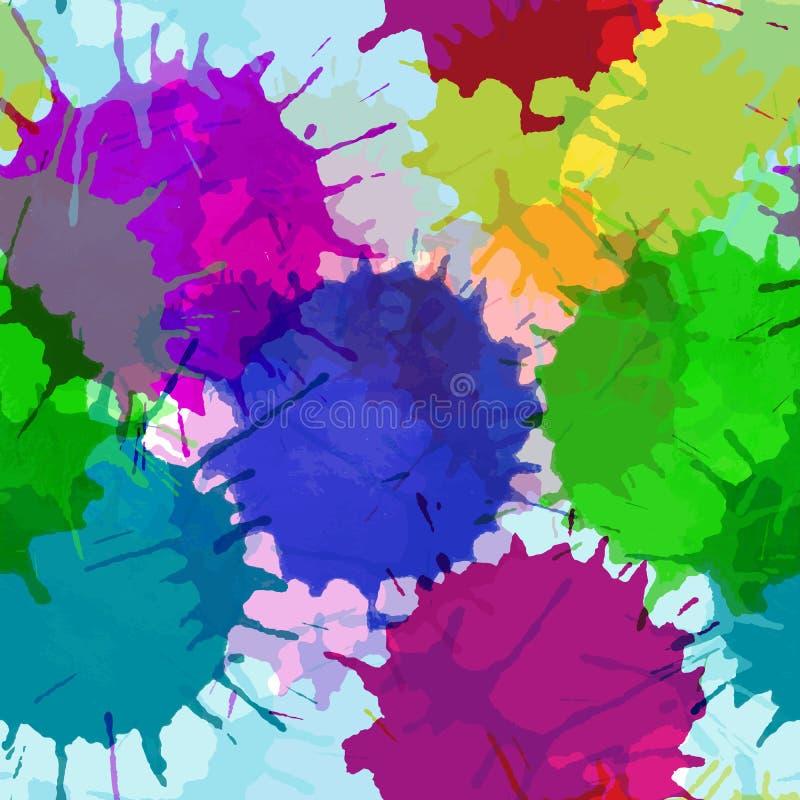 Картина абстрактной яркой акварели безшовная иллюстрация вектора