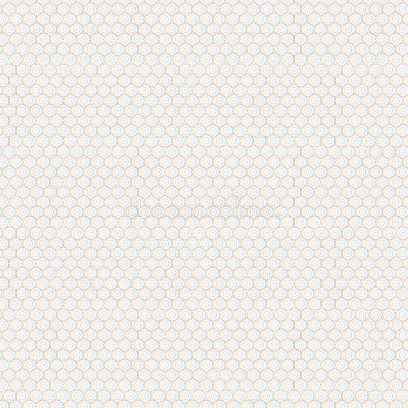 Картина абстрактных кругов шестиугольника геометрических безшовная, бесплатная иллюстрация