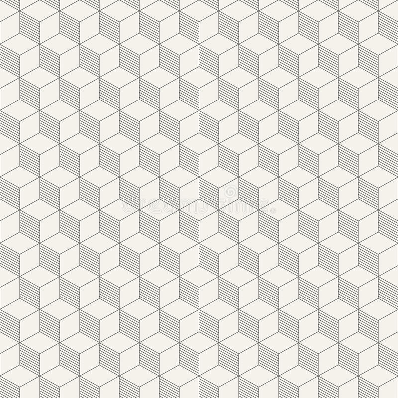 Картина абстрактных равновеликих кубов безшовная иллюстрация вектора