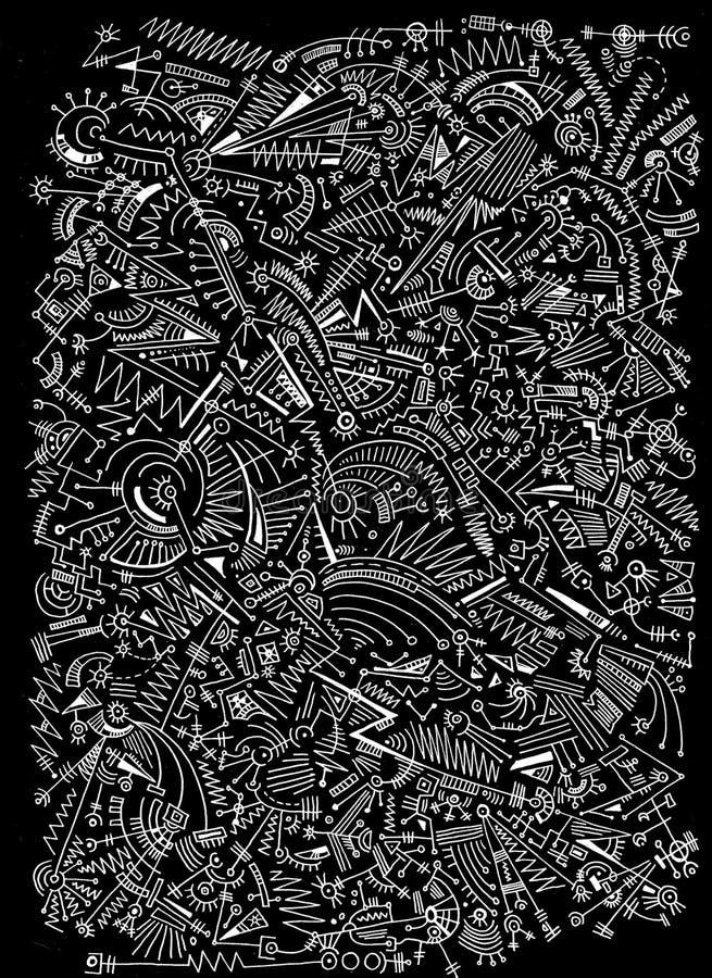 Картина абстрактных форм на белой предпосылке стоковое фото