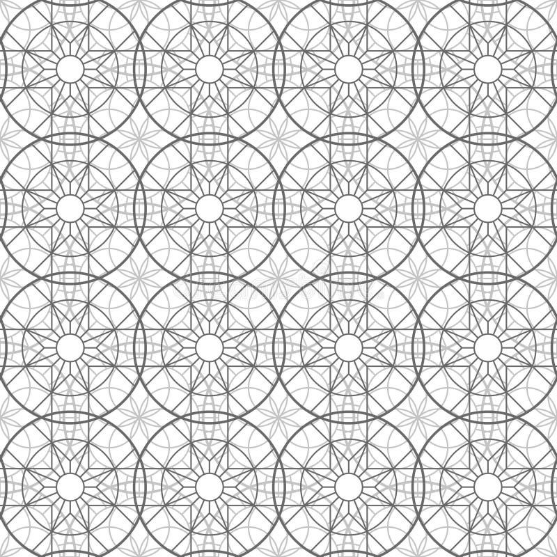 Картина абстрактных эзотерических геометрических пентаграмм безшовная бесплатная иллюстрация