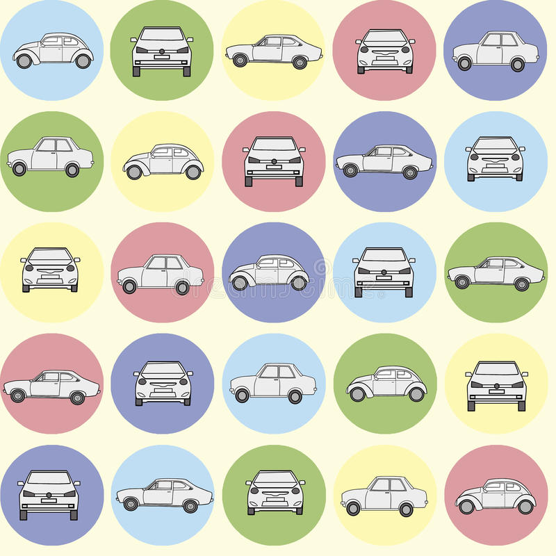 Картина автомобилей иллюстрация штока