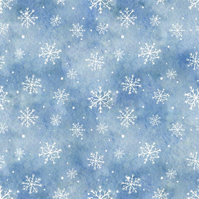 Картина акварели безшовная с голубыми предпосылкой и sn градиента бесплатная иллюстрация
