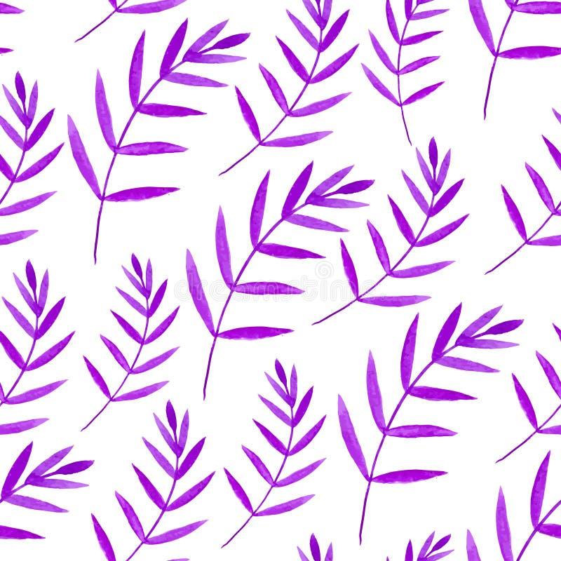 Картина акварели безшовная Флористическая предпосылка краски руки вектора иллюстрация вектора