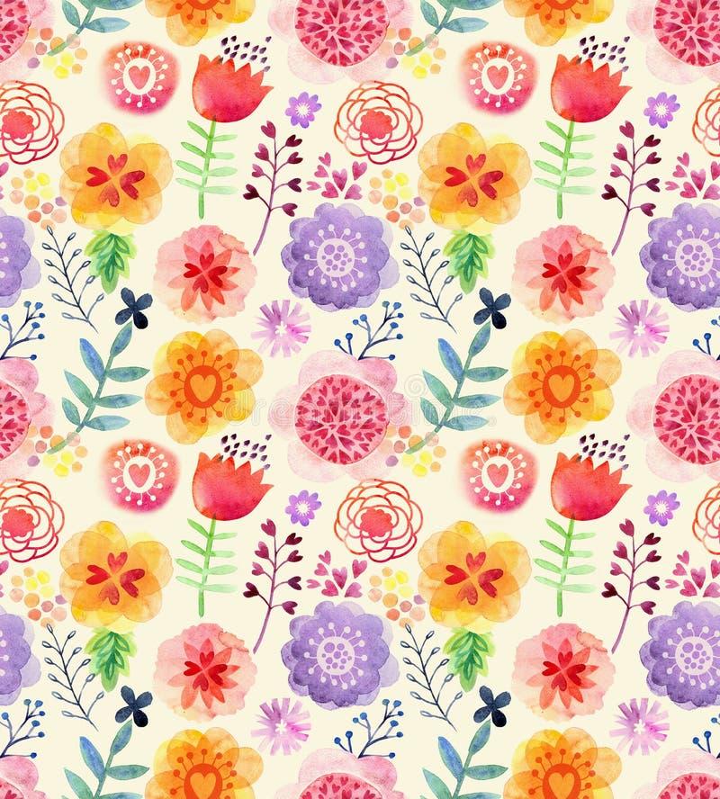 Картина акварели с цветками бесплатная иллюстрация