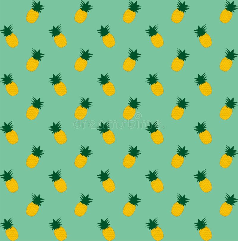 Картина ананаса безшовная Винтажный ананас безшовный для вашего дела бесплатная иллюстрация