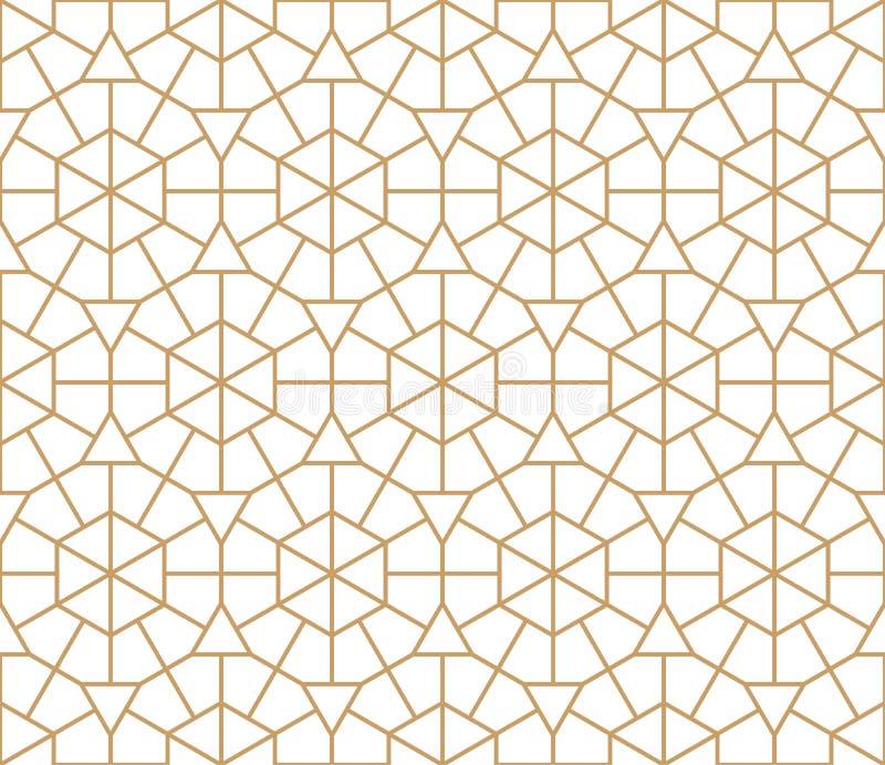 Картина арабского круглого орнамента безшовная Морокканская предпосылка круга Вектор и иллюстрация иллюстрация вектора