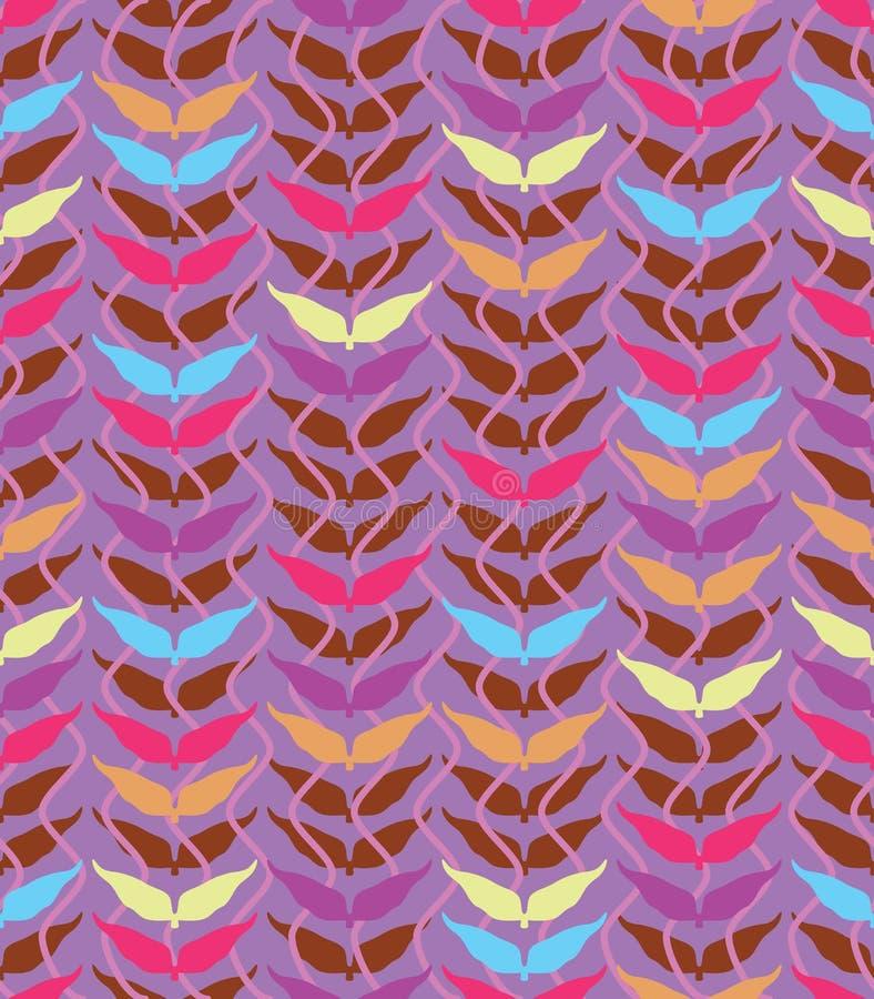 Картина арабской волны лист вертикальная безшовная иллюстрация штока