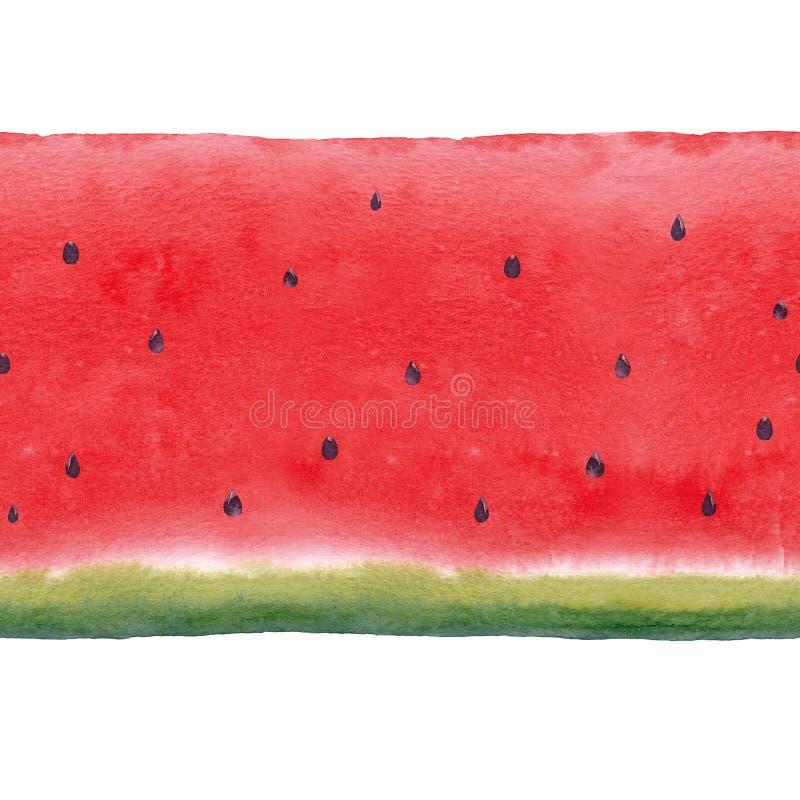 Картина арбуза акварели безшовная иллюстрация вектора
