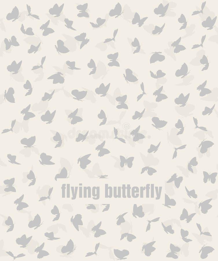 Картина бабочек летания в пастели иллюстрация вектора