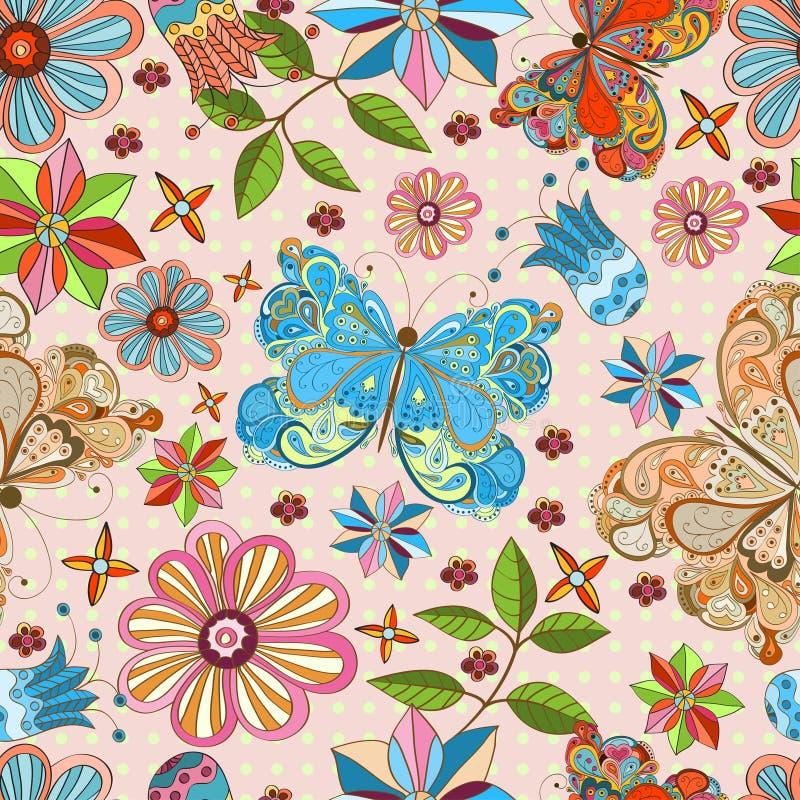 Download картина бабочки безшовная иллюстрация вектора. иллюстрации насчитывающей пепельнообразные - 41662775