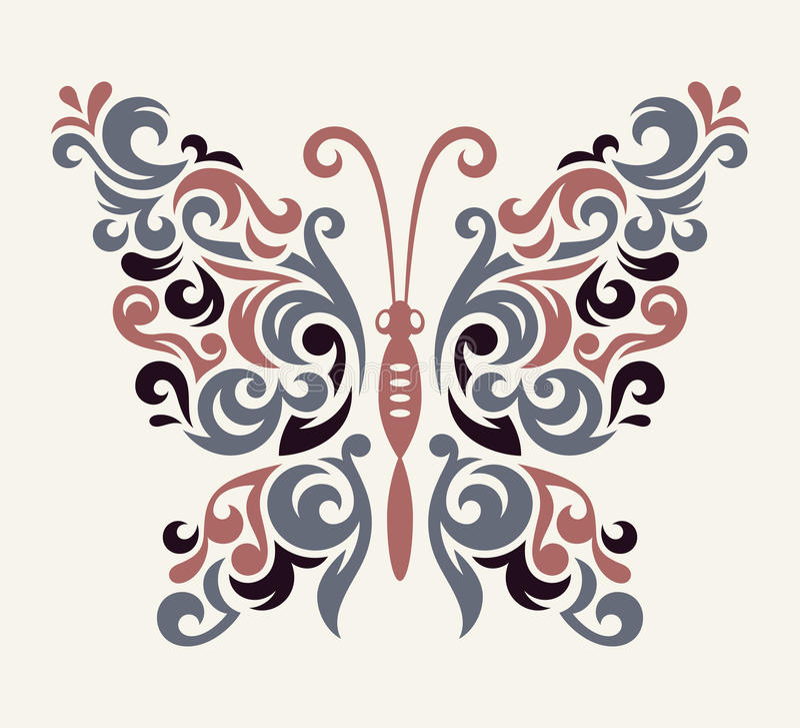 Картина бабочки вектора иллюстрация штока