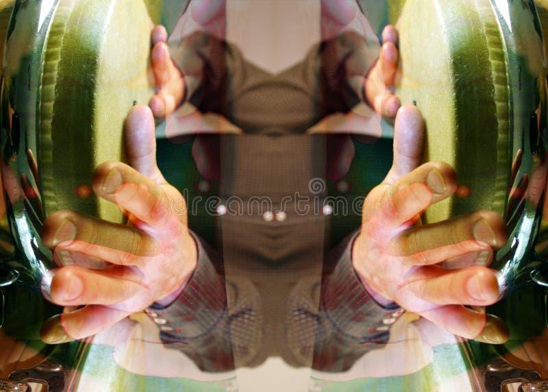 картина барабанщика стоковое изображение rf