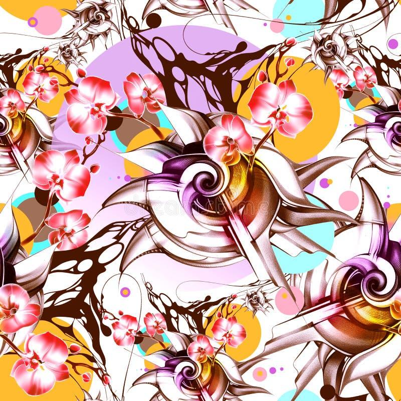 картина безшовная абстрактная предпосылка стоковое изображение rf